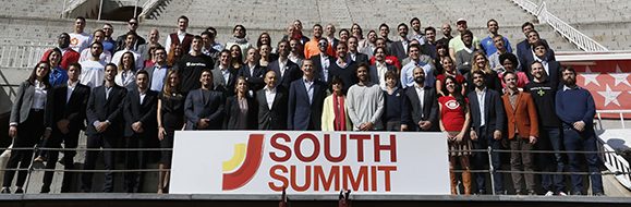 Carlos Sanchez Mendoza / Team Scolio at South Summit, with King Felipe VI of Spain and other South Summit pitch finalists