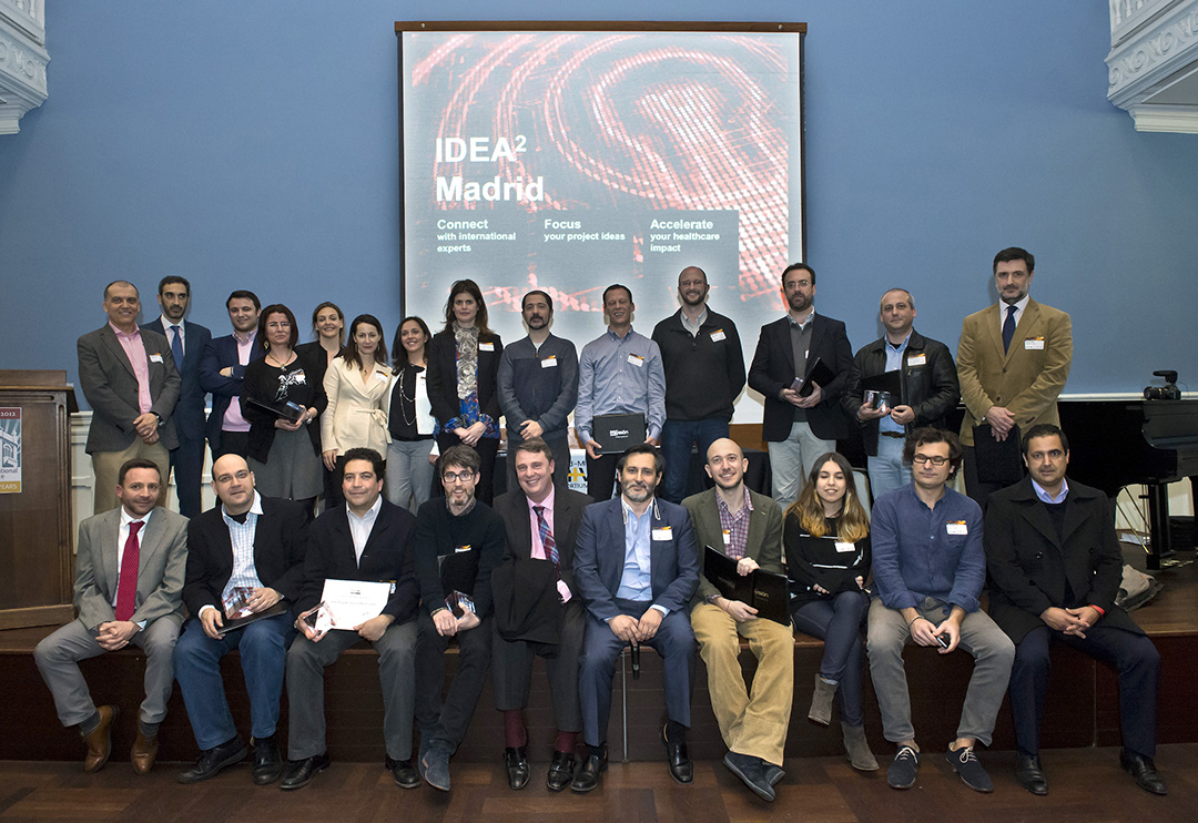 The 2014 IDEA² Madrid winners, shown with the Executive Committee